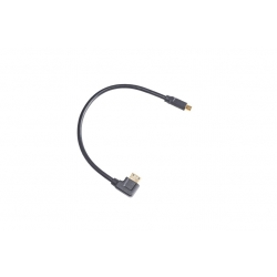 Nauticam HDMI (D-C) cable in 240mm length (to use with 25031, for connection from HDMI bulkhead to camera)